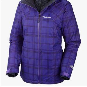 Columbia Women's Whirlibird Interchange Jacket Hyper Purple Plaid Size: Small